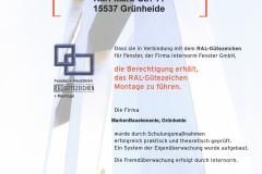 Internorm RAL-Montage 2007 - MARKEN Bauelemente