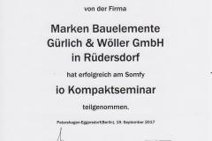 Somfy io Kompaktseminar 2017 - Hr. Buley
