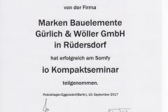 Somfy io Kompaktseminar 2017 - Hr. Wöller, Frank